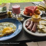 Discovering Porto de Galinhas - hearty breakfast Pousada Jangada