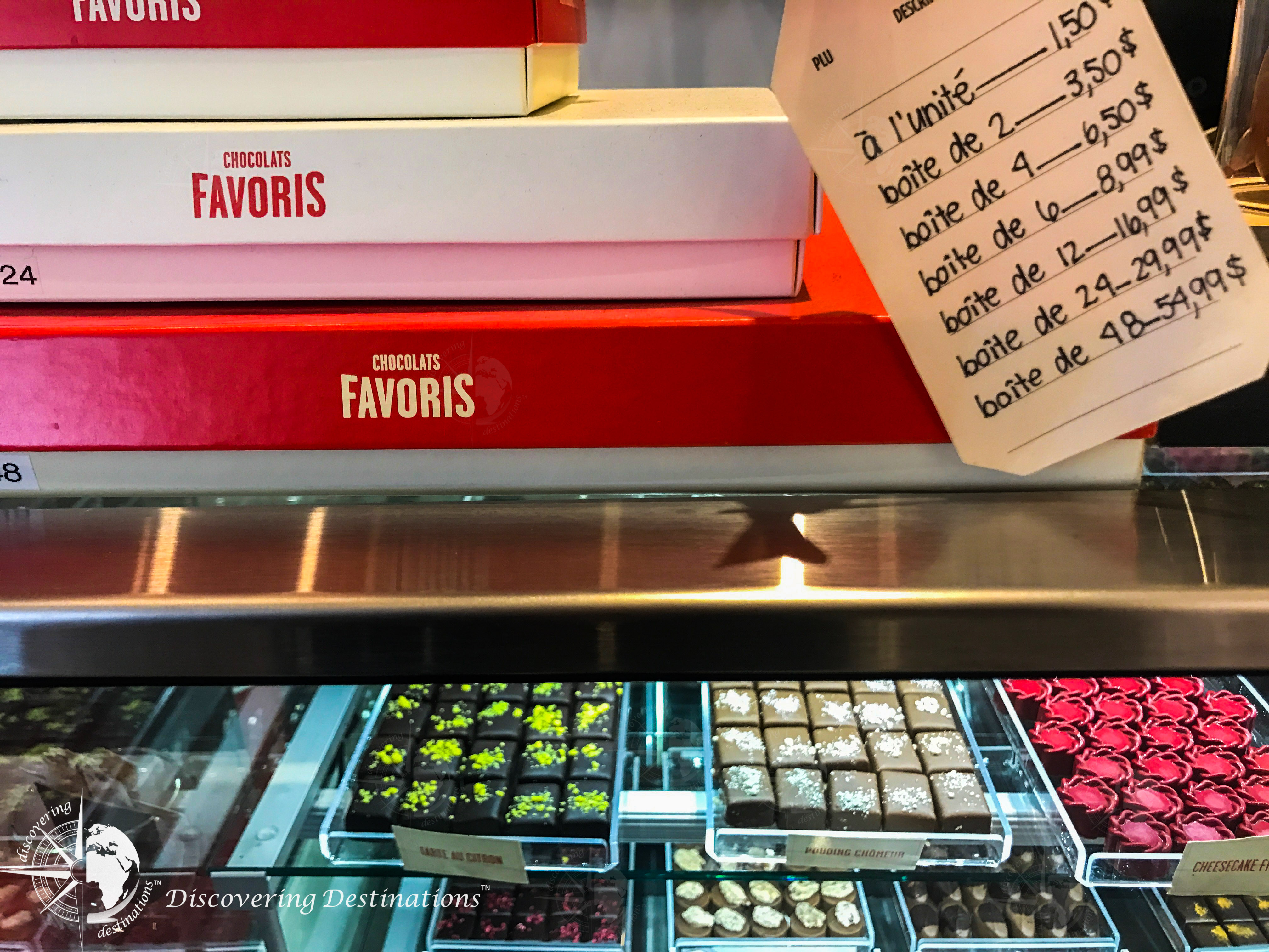 discovering chocolates - montreal