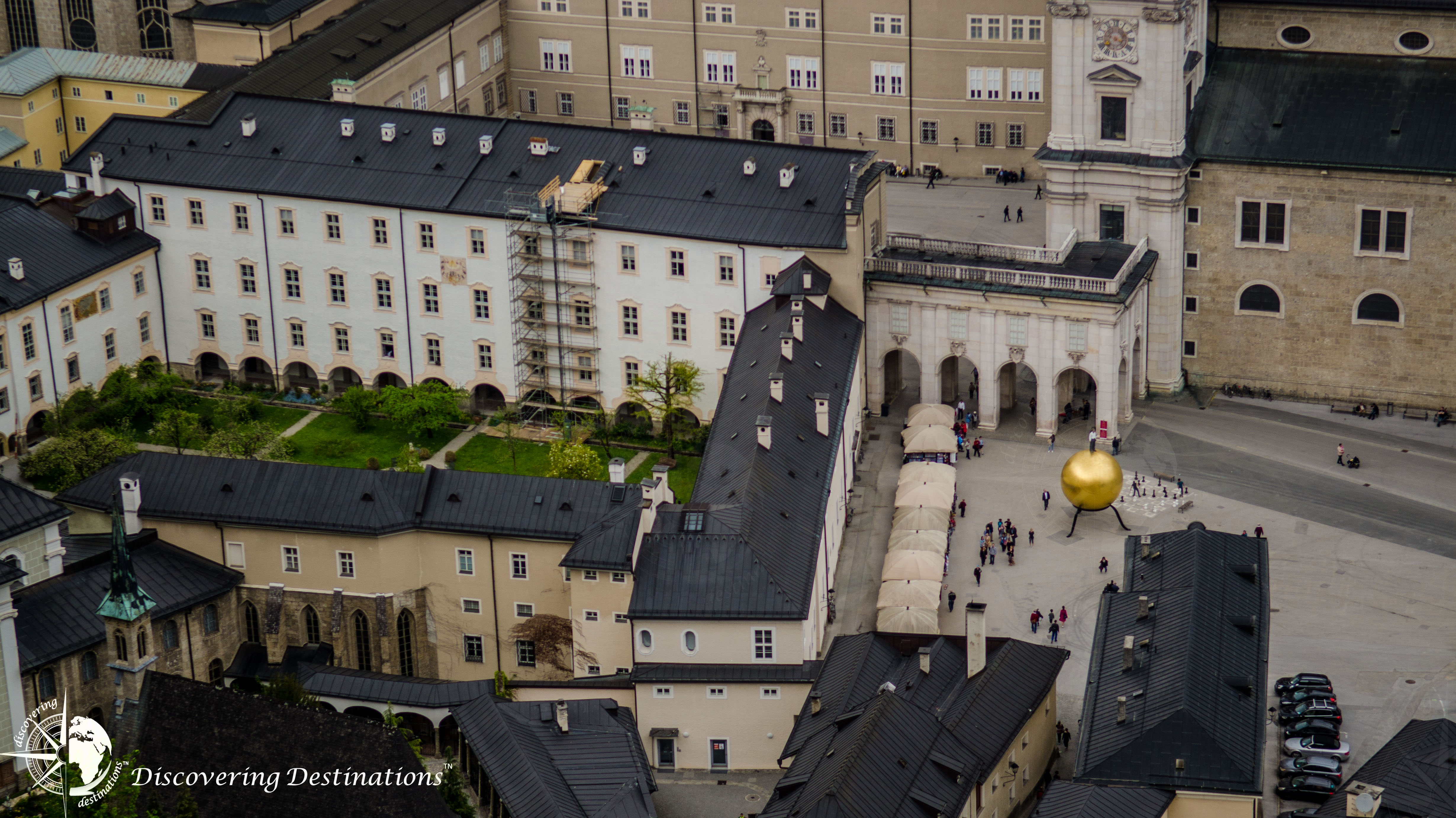 Discovering Kapitelplatz from Hohensalzburg Fortress