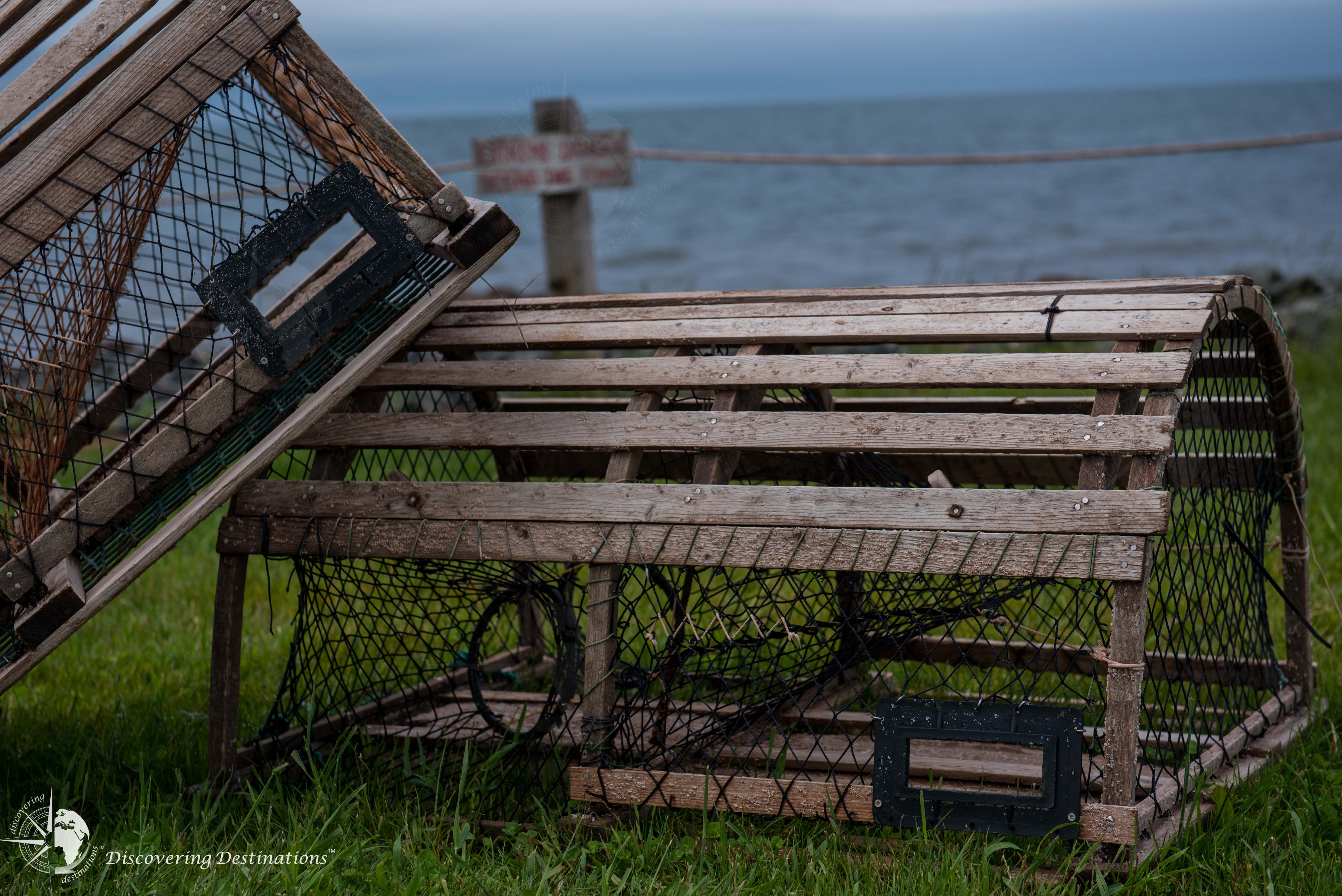 Up close lobster trap