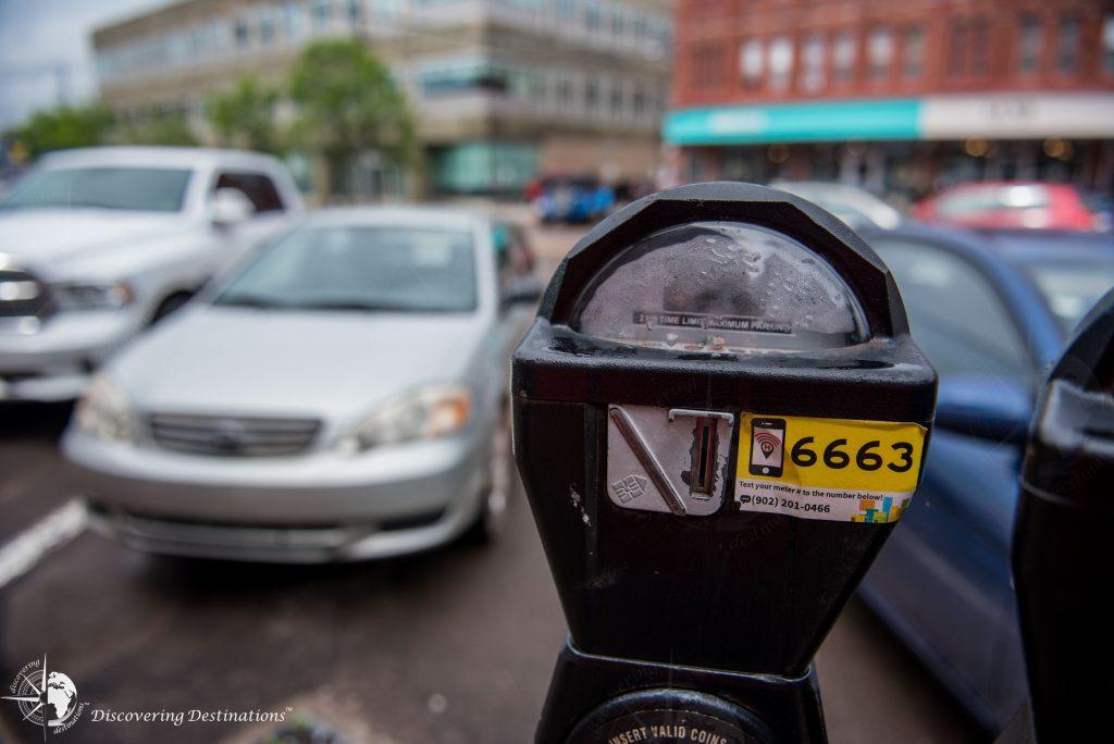 old school parking meter