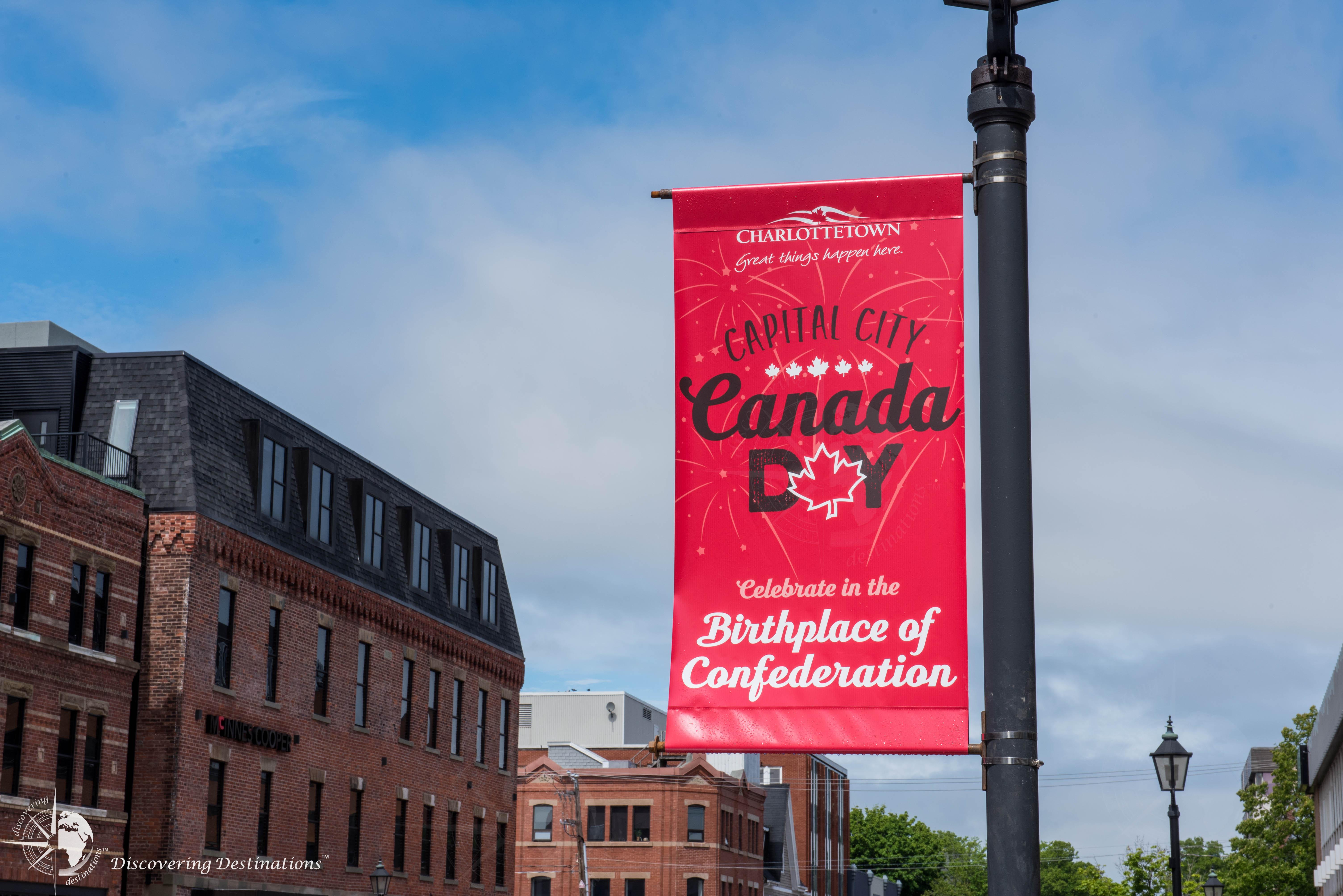 Charlottetown Canada Day celebration banner