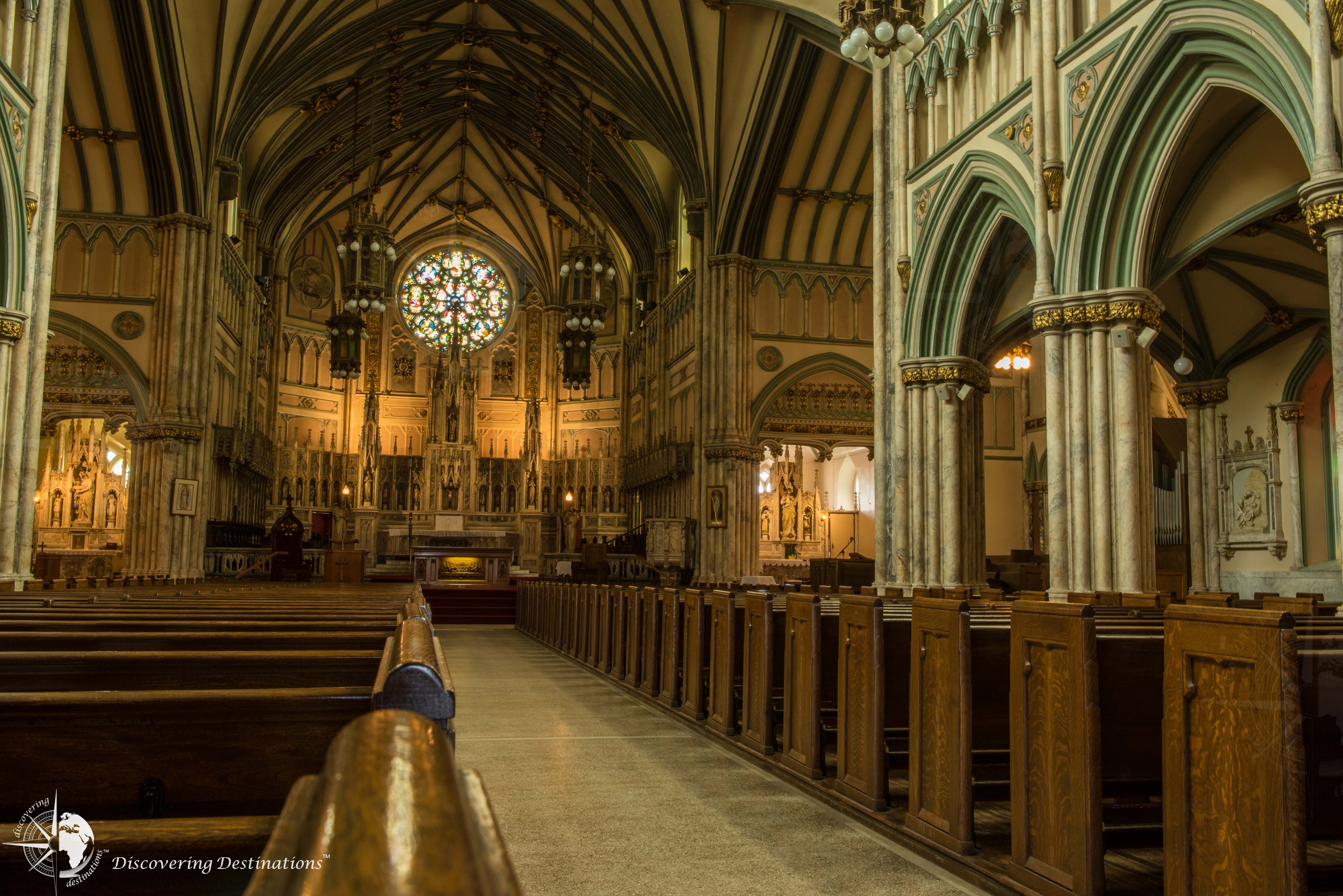 Inside Charlottetown St Dunstan's Basilica Cathedral