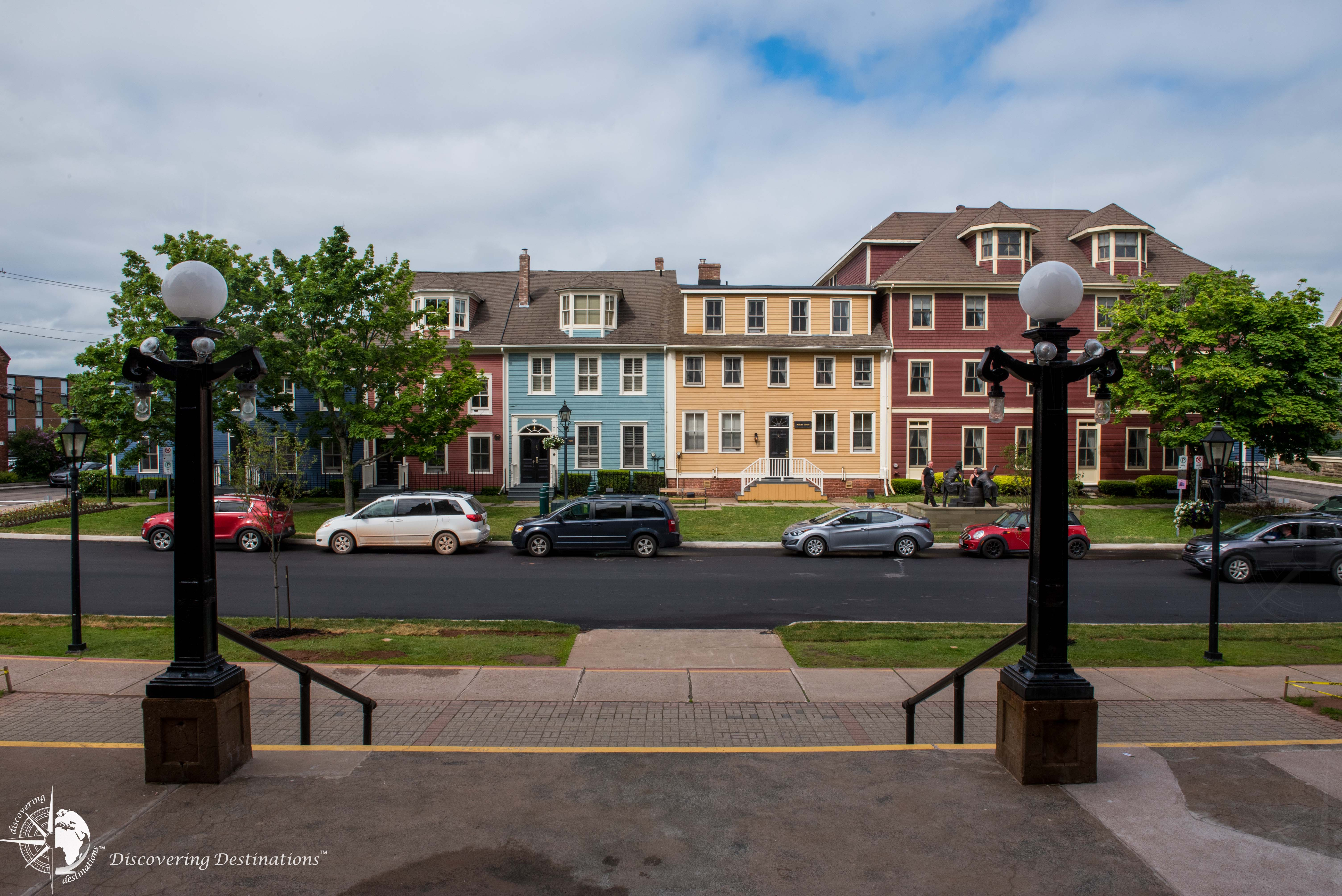 Street view from Charlottetown St Dunstan's Basilica Cathedral