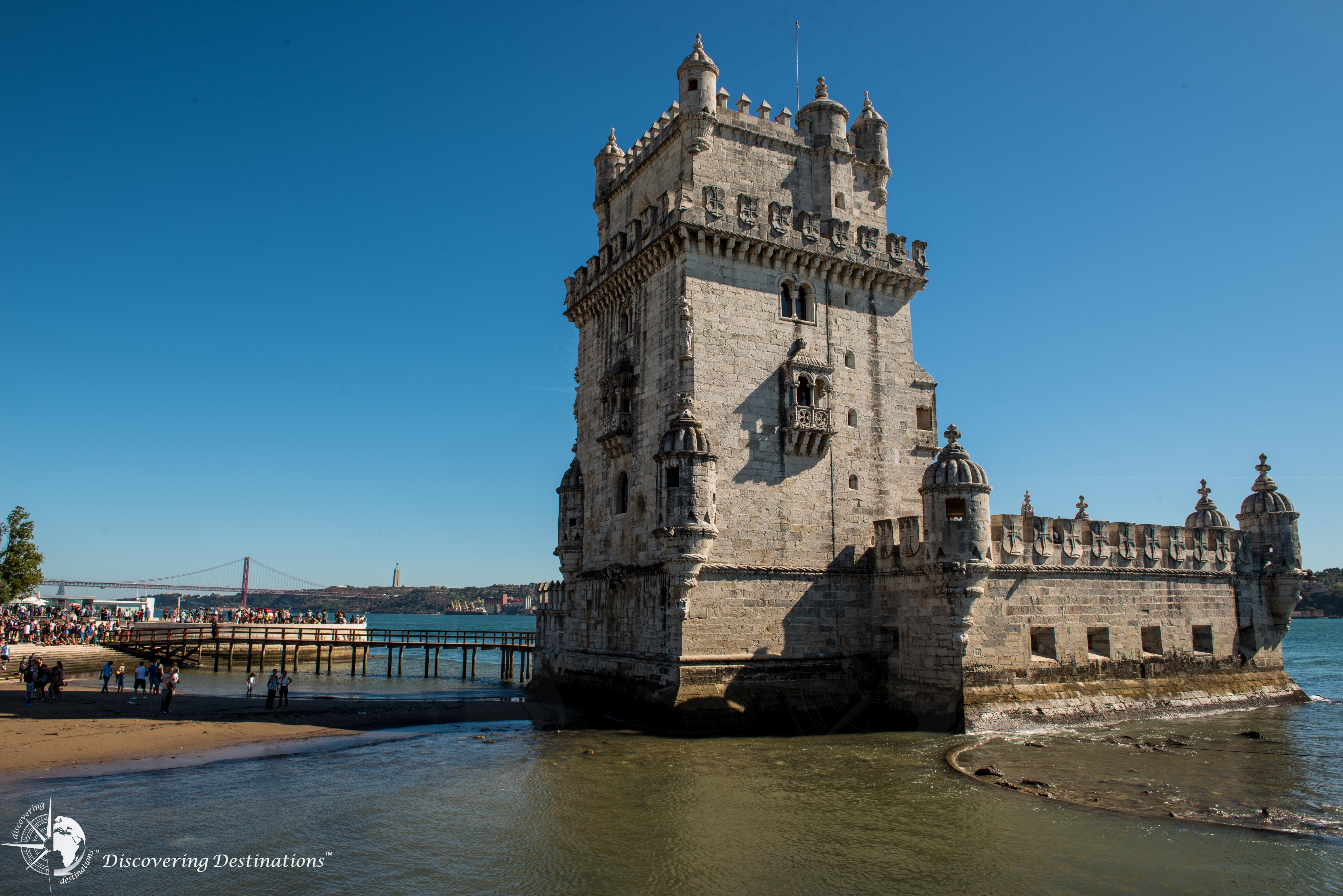 Close up of the Belém Tower