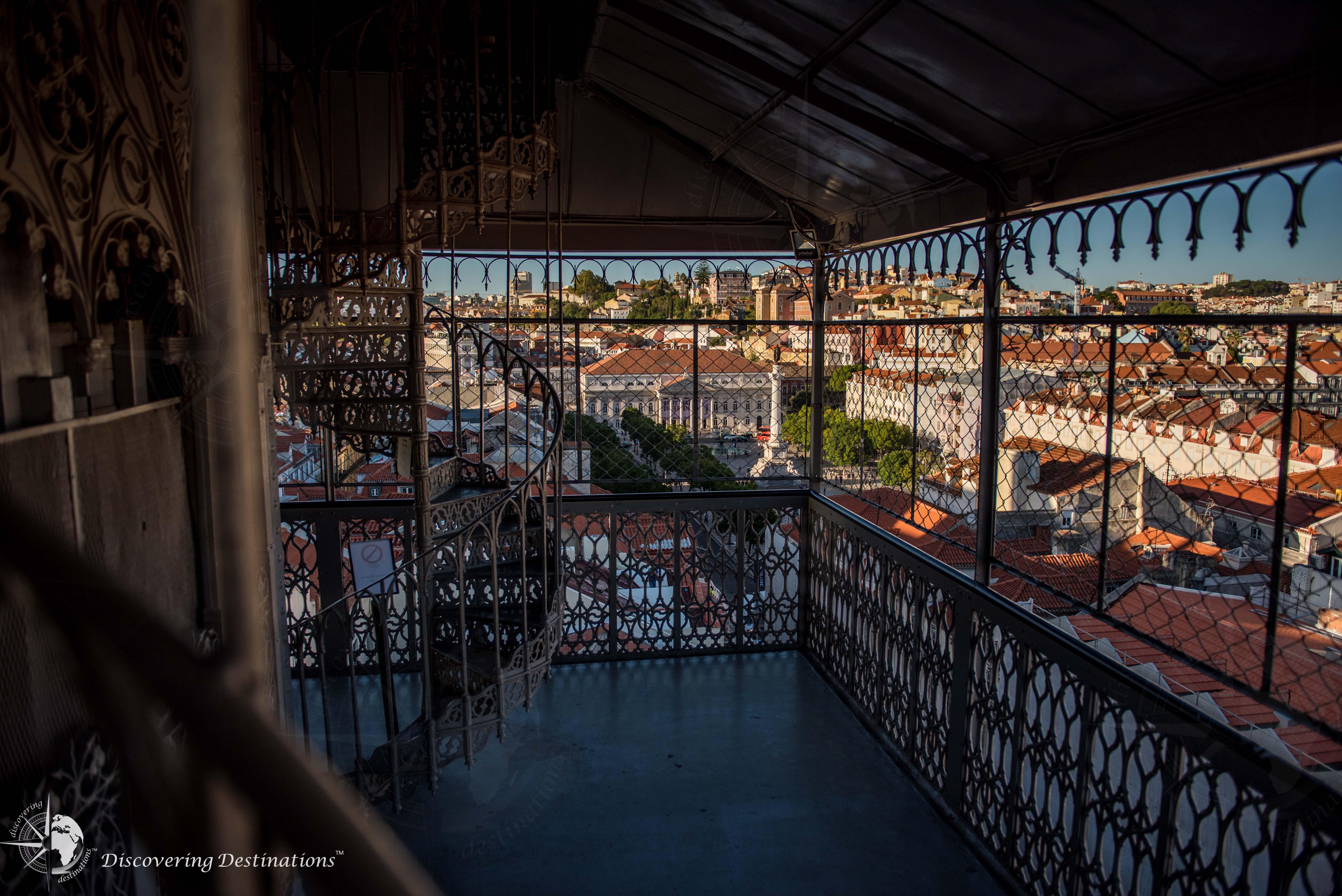 Santa Justa Elevator view up top