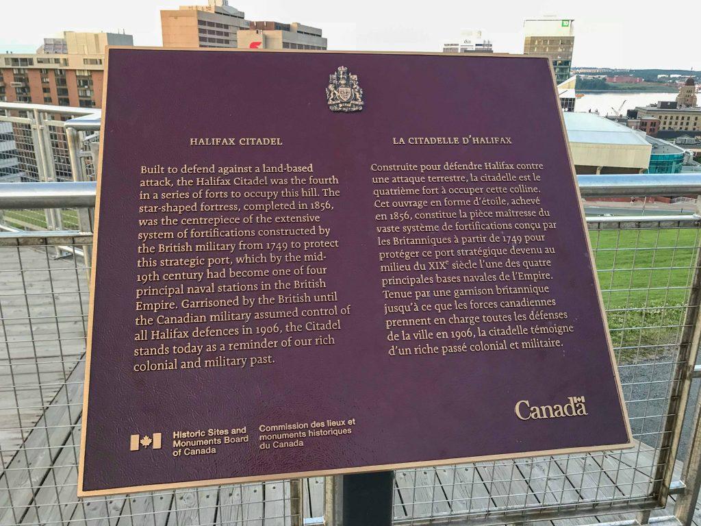 Halifax Citadel Explanation