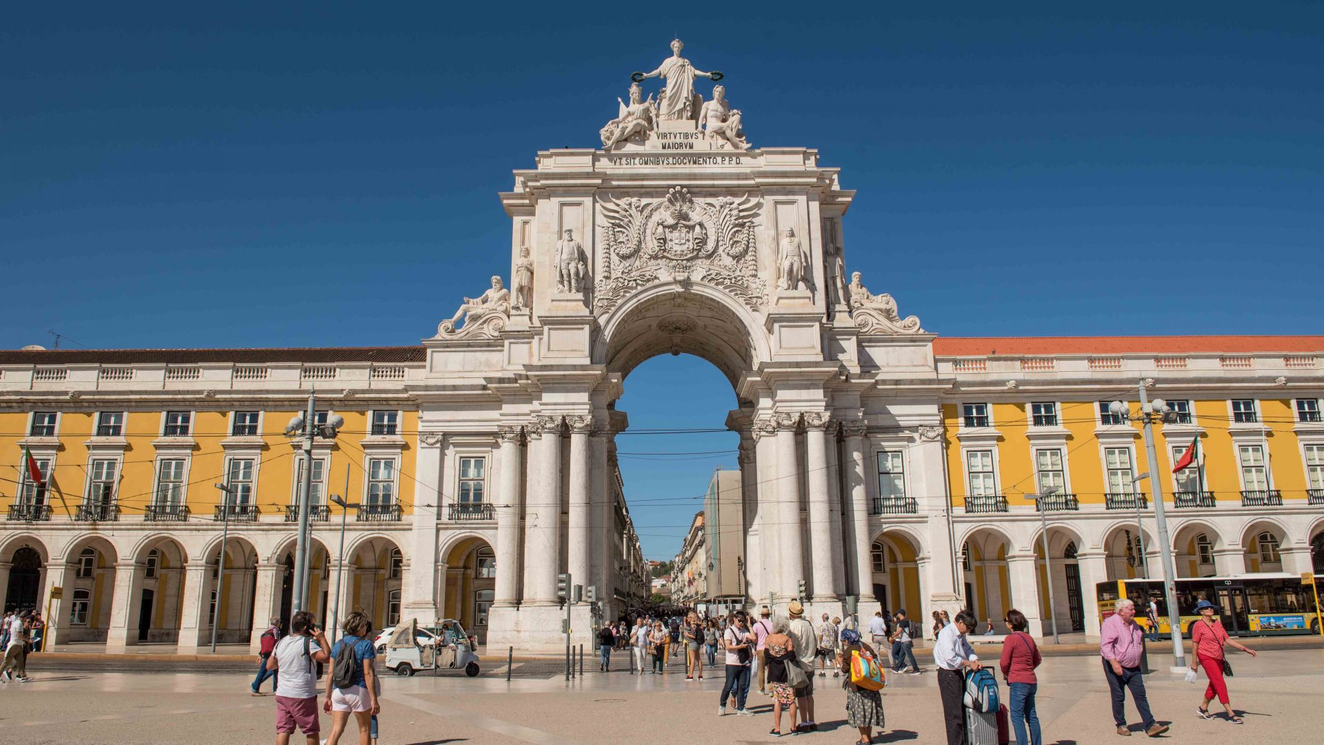 Praça do Comercio, the commercial centre of Lisbon