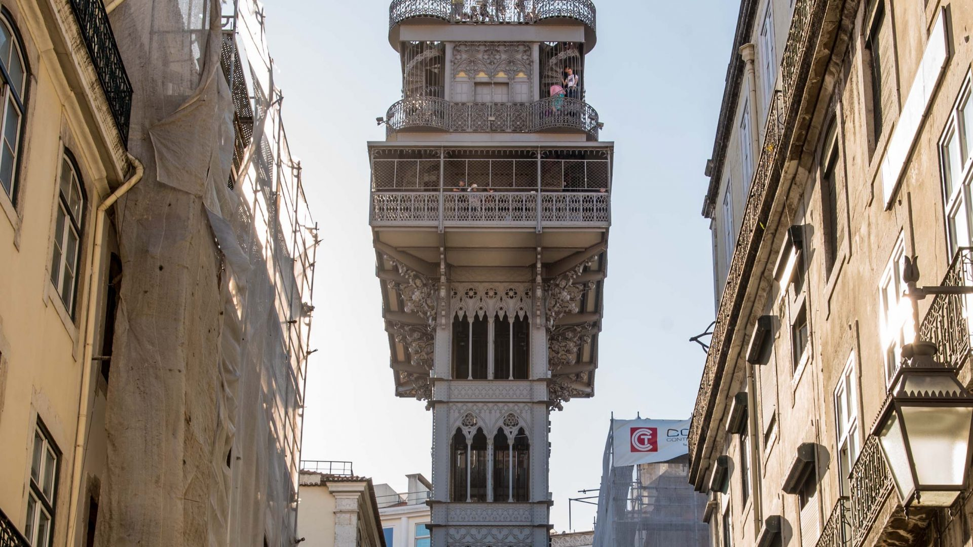 The Santa Justa Lift, beautiful views of Lisbon