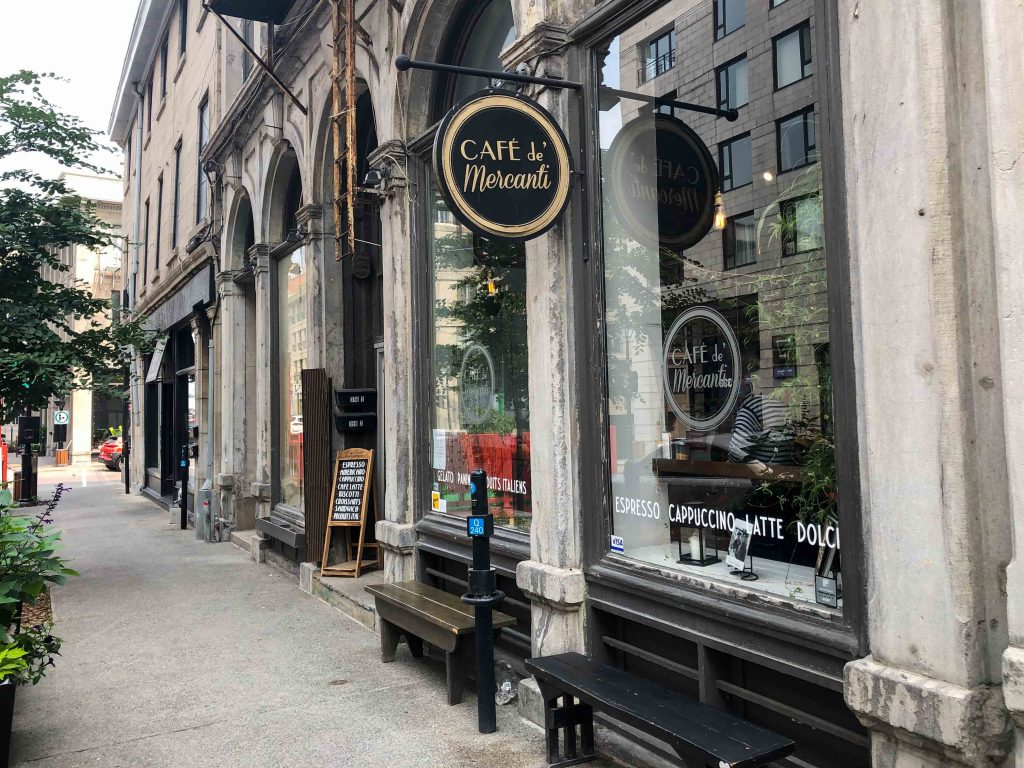 Old Port Montreal in one day - Cafe de Mercanti