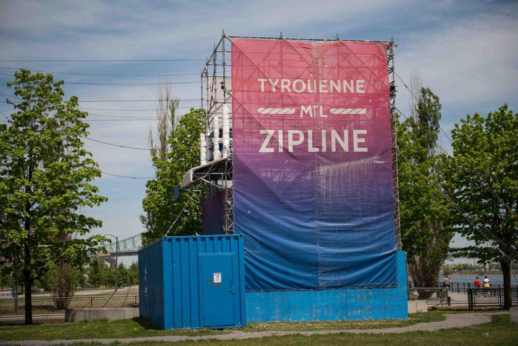 Zipline in Old Port Montreal