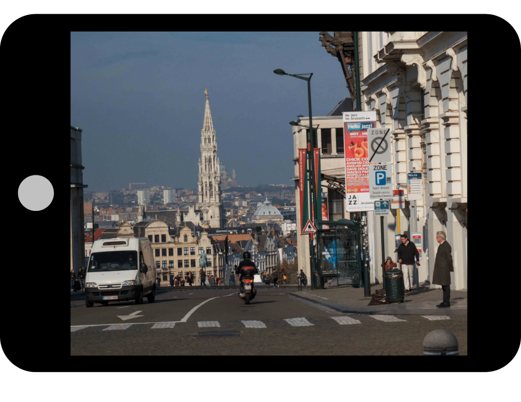 Top of Royal Place in the city of Brussels