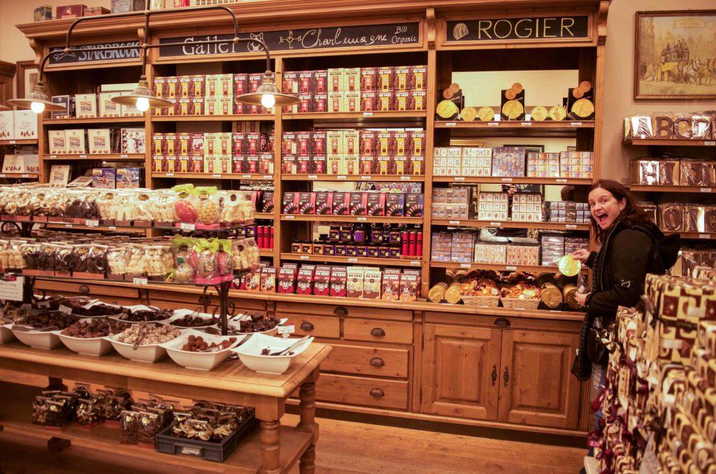 Inside the Belgique Gourmande in Bruxelles