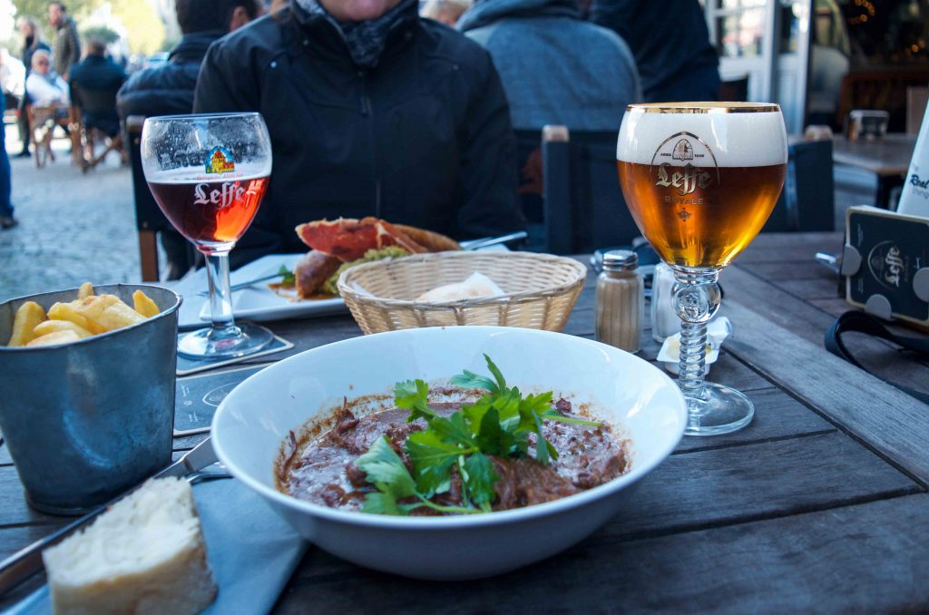 Lunch at Cafe Leffe