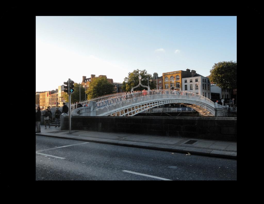 Pedestrian bridge in Dublin Ireland