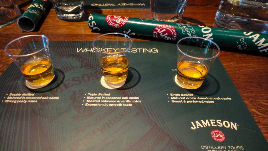 Jameson whiskey in Dublin Ireland