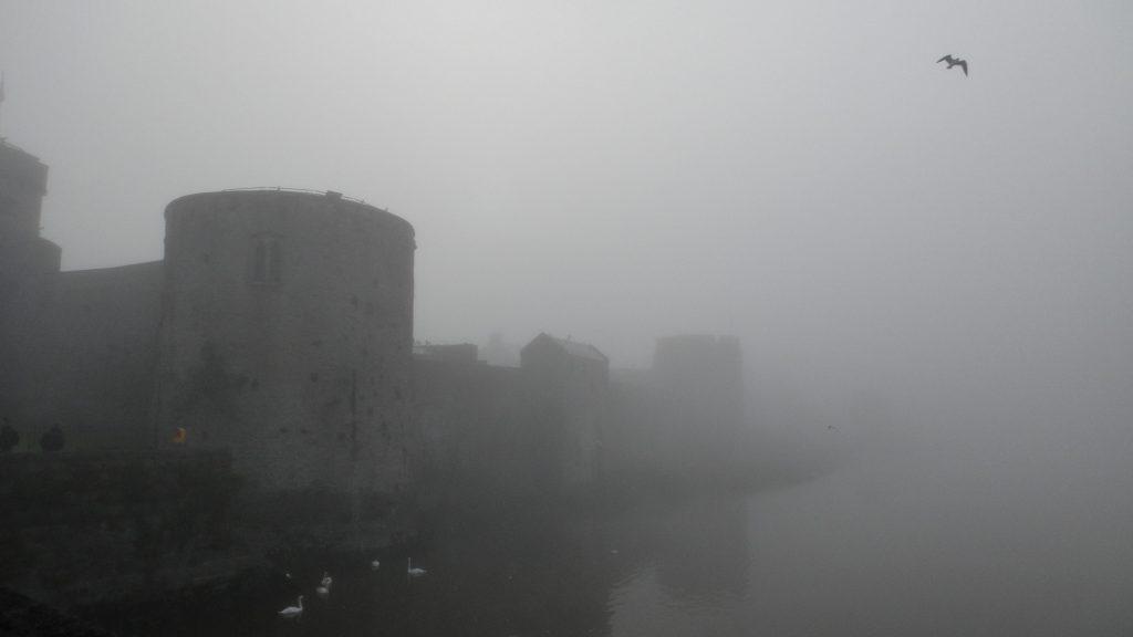 Limerick castle in the fog