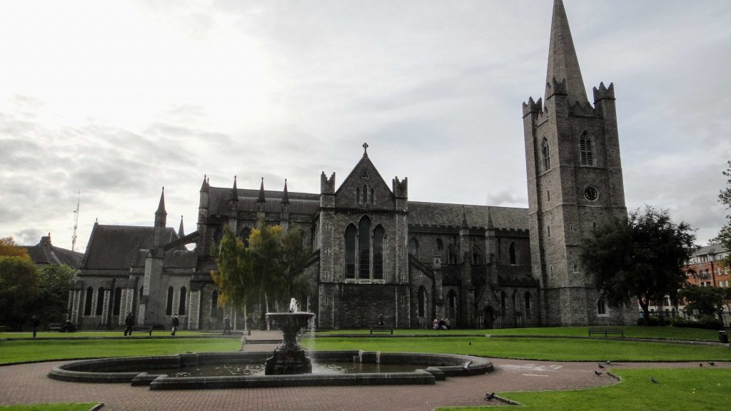 St Patrick's cathedral in Dublin Ireland